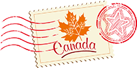 Canada stamp and postmark